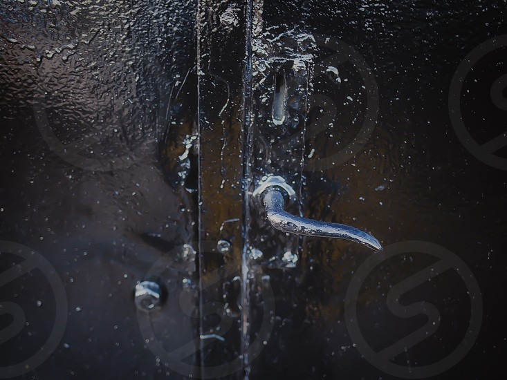 Black iron door photo
