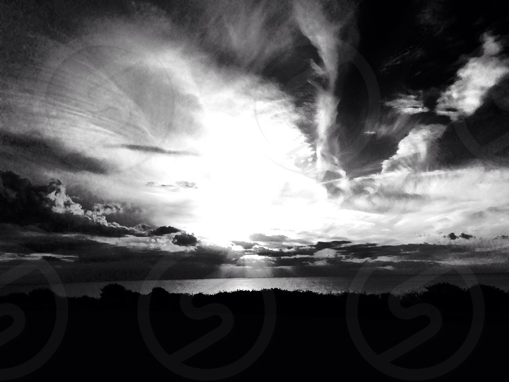 Sunset bw photo