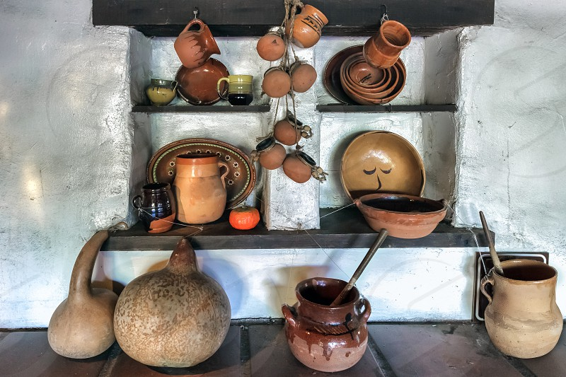 Pots on Display in the Oldest Building in Los Angeles photo