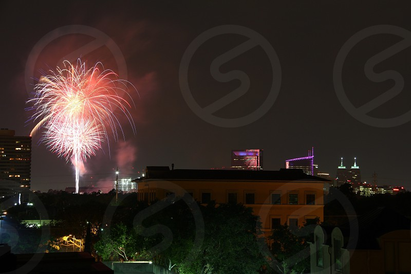 Fireworks over Houston.  photo