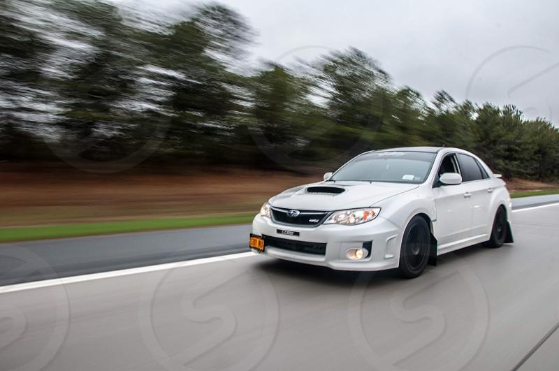 white Subaru photo