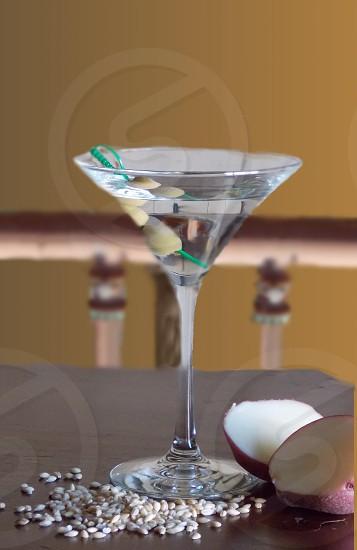 clear martini glass photo