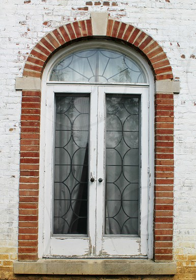 brick arch window photo