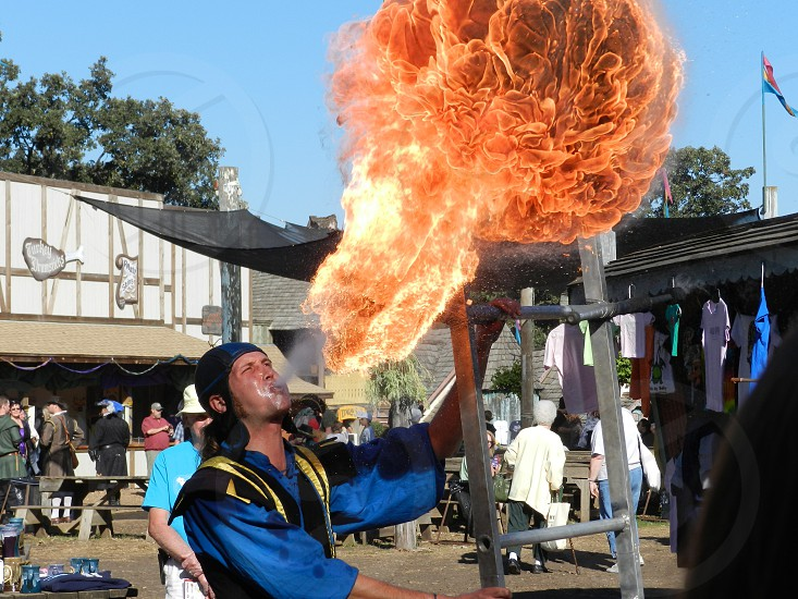 Fire Breather at Renaissance Festival                            photo