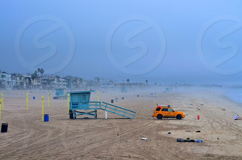 Manhattan Beach Pier. Winter.  photo