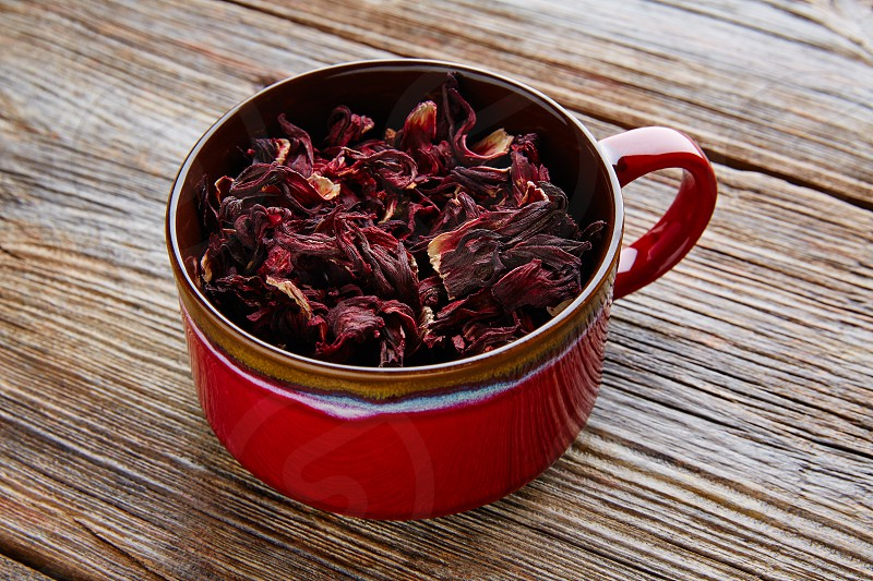 Jamaica flower for herbal iced tea from hibiscus Mexican beverages photo