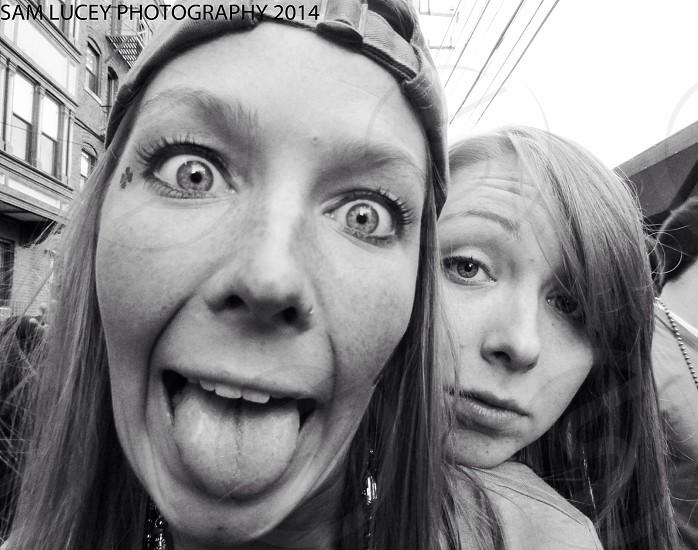 two woman taking a selfie photo