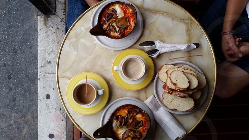 An excelent shakshuka for breakfast. photo