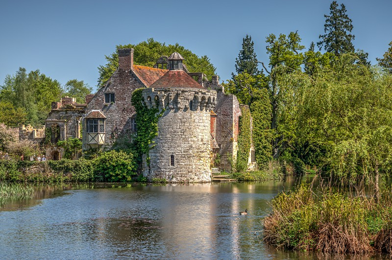 Scotney Castle and tower High Dynamic Range image photo