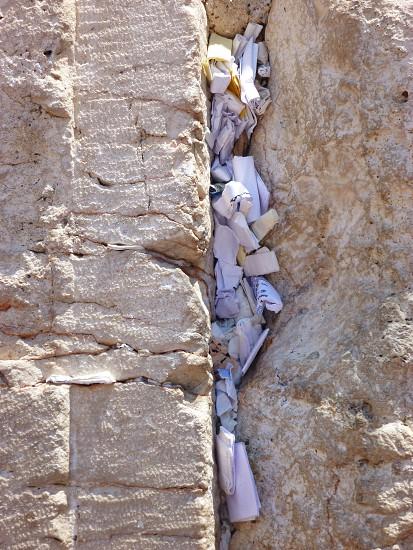 Wailing wall western wall Jerusalem Israel prayers photo
