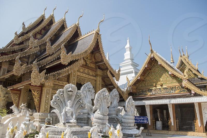 The Wat San Pa Yang Luang in the city of Lamphun in the province Lamphun in north Thailand.   Thailand Lamphun November 2019 photo