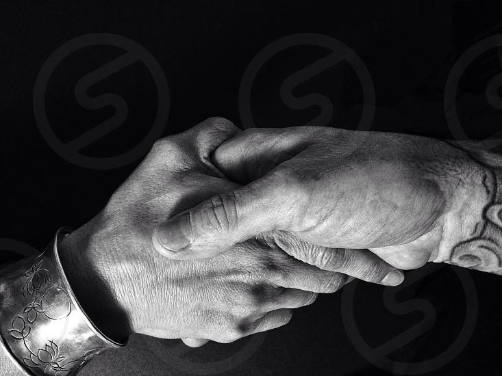 hand shakes  photo