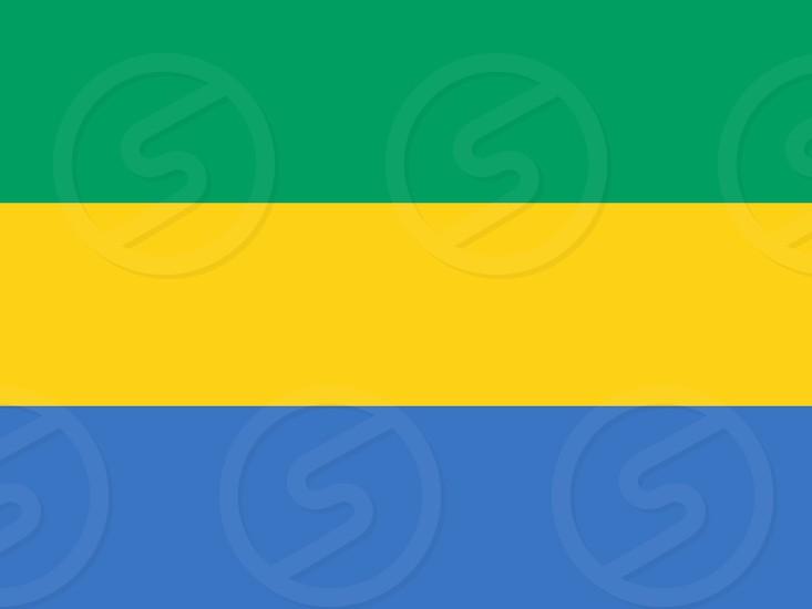 Official Large Flat Flag of Gabon Horizontal photo