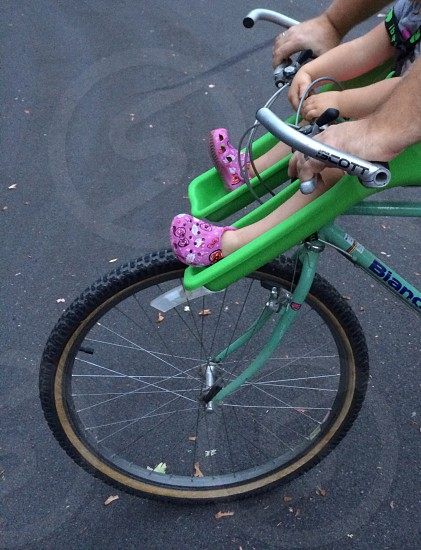 child on bike photo