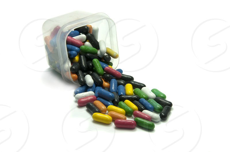 plastic box with sweets photo