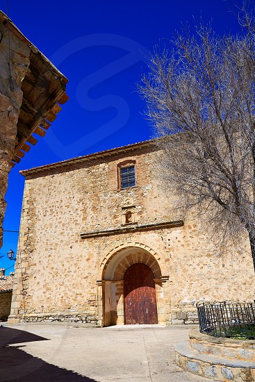 Moscardon church in Sierra Albarracin of Teruel Spain photo