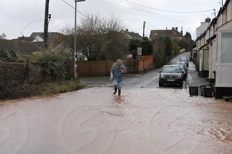 Getting supplier during Somerset floods 2013 photo