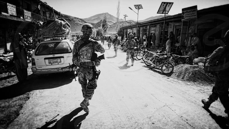 Soldiers Army War Afghanistan Street Urban Veteran Journalism  photo