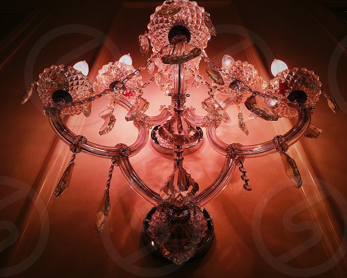 clear glass chandelier photo