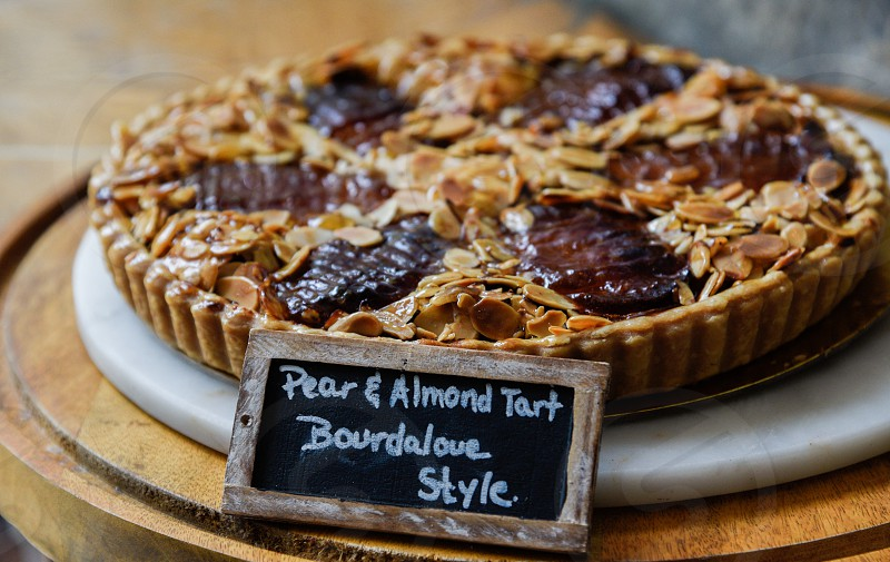 pear and almond tart bourdalove style photo