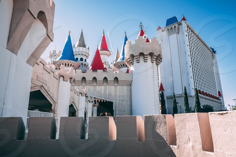 This is a photograph of the Excalibur Casino & Resort on the Las Vegas Strip in Clark County Nevada. photo