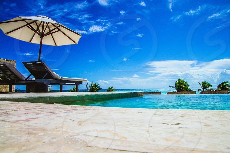 Beach resort luxury pool photo