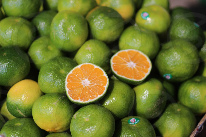 green philippine lime fruit photo