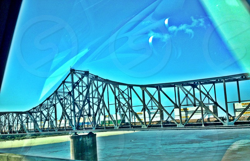 metal bridge view photo