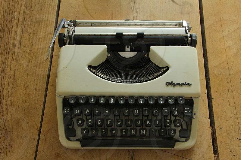 Olympia manual typewriter with Slovene and Croat language keys photo