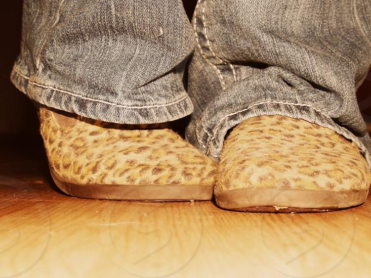 Leopard print shoes  photo