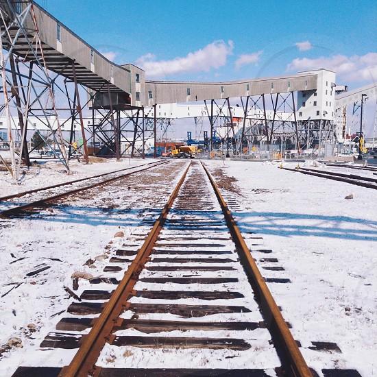 brown railway  photo