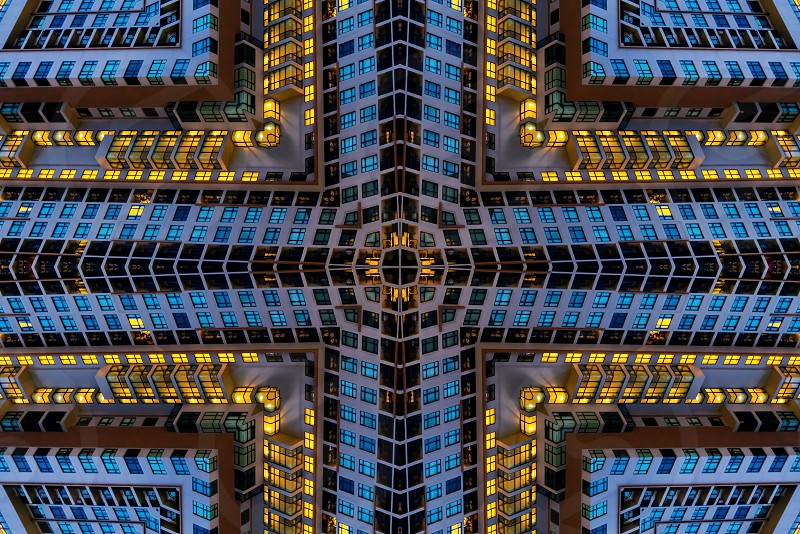 Abstract design from building photo