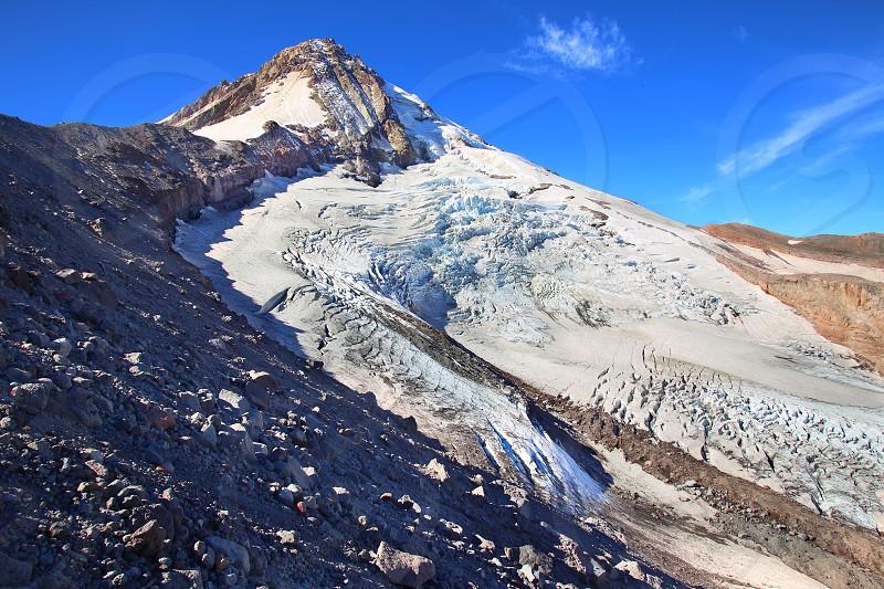 The Eliot Glacier on Mt. Hood. photo