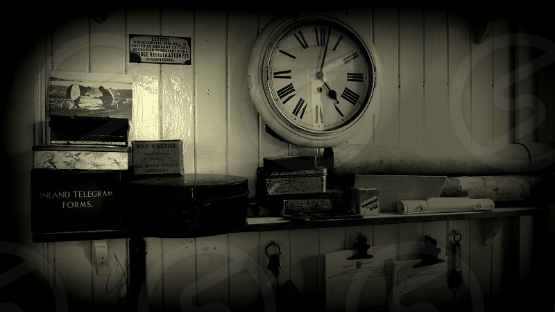 There is always something. so beautiful  in vintage style photos. This is old post office in Highland Folk Museum. photo