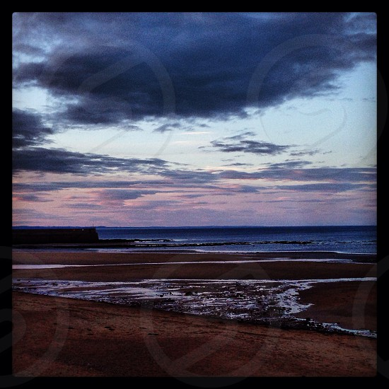 St. Andrews Scotland. Sea and clouds.  photo