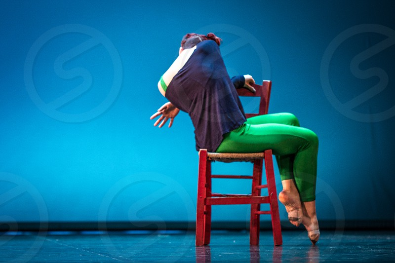 Woman Dancer On The Chair photo