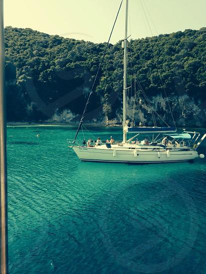 Blue lagoon corfu photo
