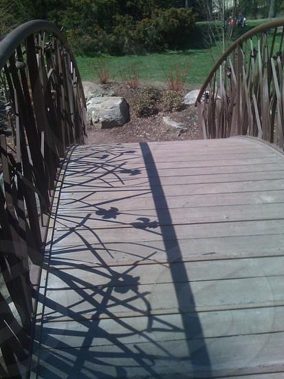 Shadows on a bridge photo