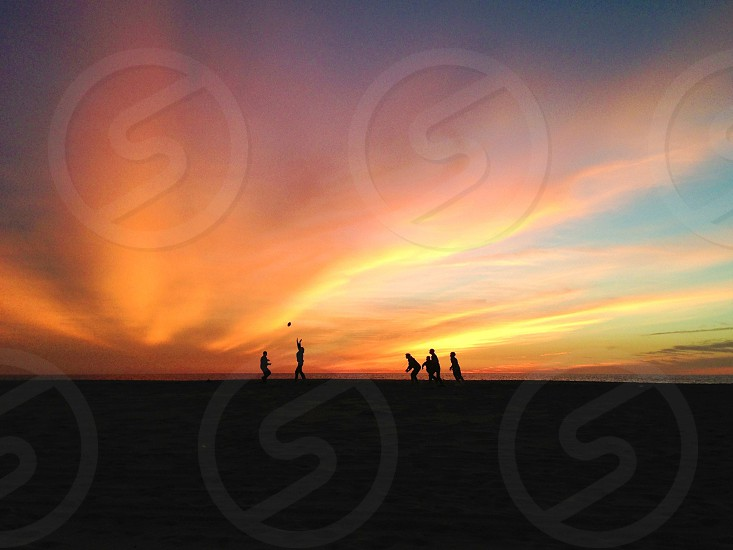 human silhouettes photo