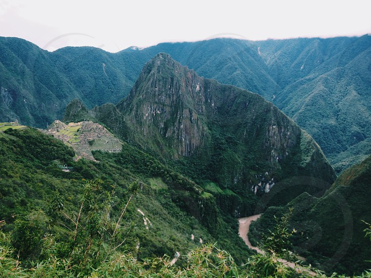 green mountain range view photo