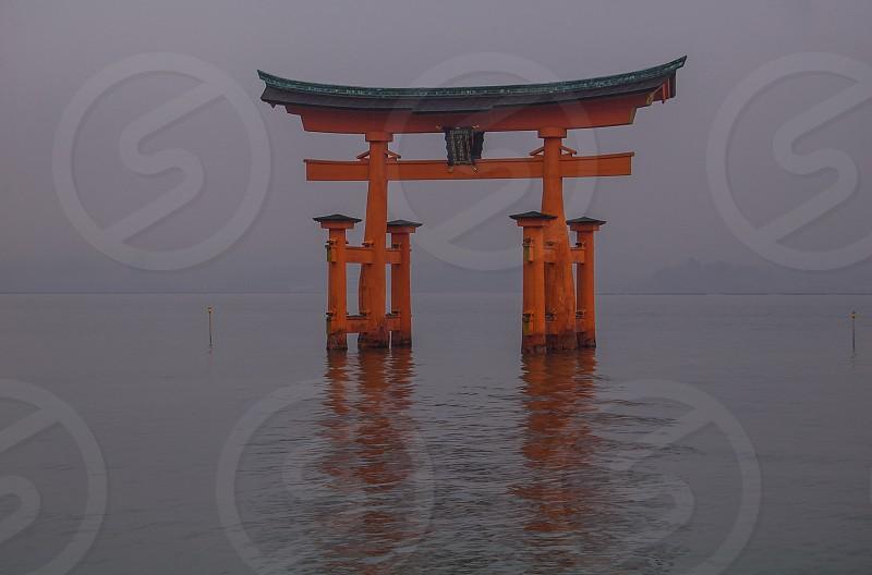 Hiroshima Japan The Great Torii-Gate Miyajima photo