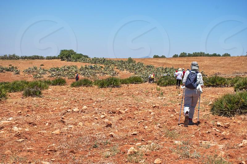 Hiking near Moulay Idris in Morocco photo