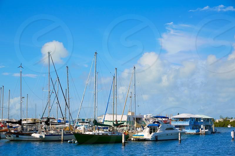 Key West Florida marina in Garrison Bight of Florida USA photo