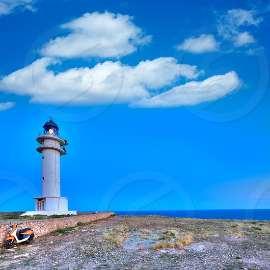 Barbaria Berberia Cape Lighthouse Formentera  in Balearic Islands photo