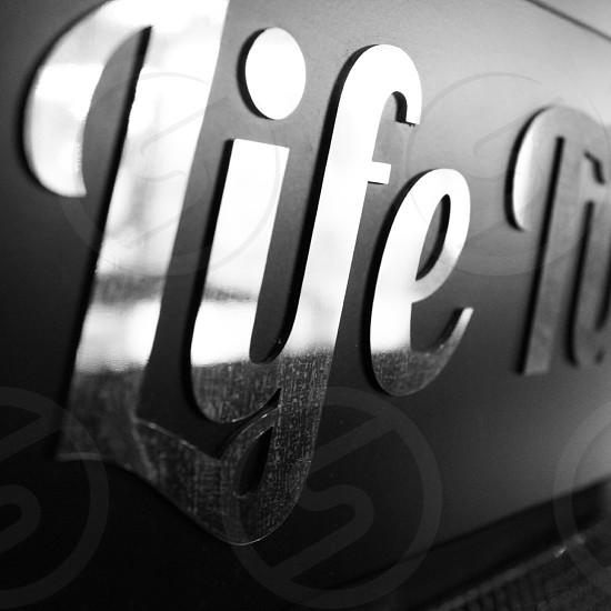 metal life sign photo
