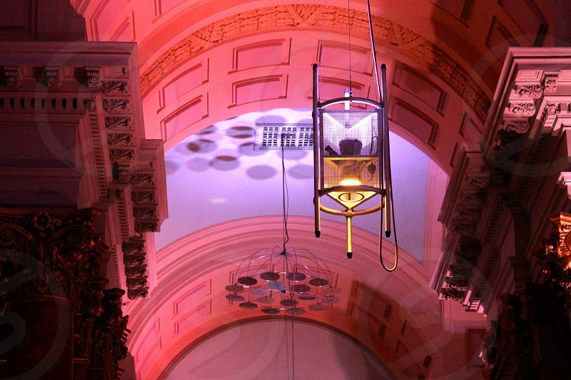 The Royal Exchange Theatre Manchester ornate ceiling  photo