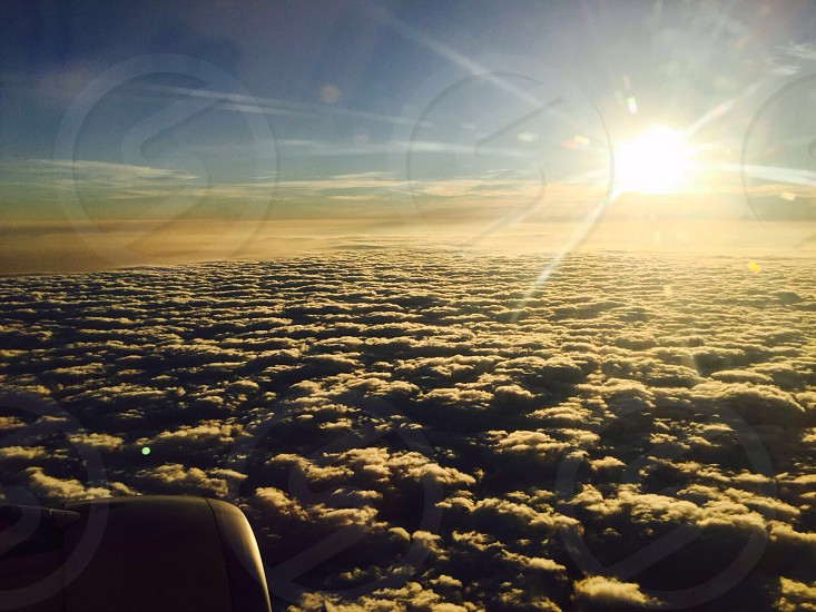 Morning world snap the moment when I awake in the plane  photo