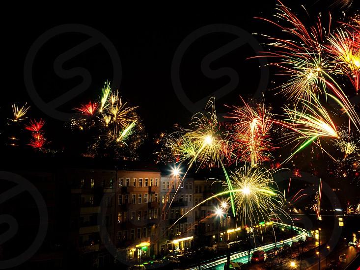 Fireworks night celebration firework night light photo