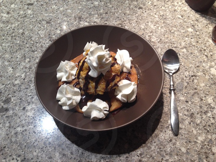 Fried Ice Cream. photo