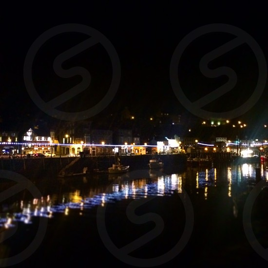 Night in Whitby photo